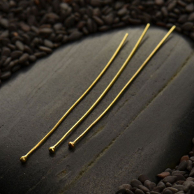 Natural Bronze Head Pin - 24 Gauge