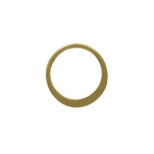 Jewelry Part - XS Half Hammered Circle Link in Bronze 9mm