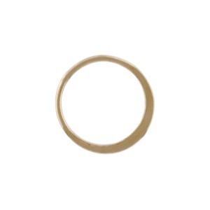 Bronze Half Hammered Circle Jewelry Link 12mm