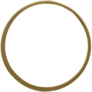 Bronze Half Hammered Circle Jewelry Link 30mm