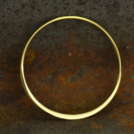 Bronze Half Hammered Circle Jewelry Link -30mm