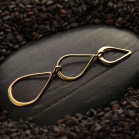 Jewelry Supplies - Three Teadrops Link in Bronze
