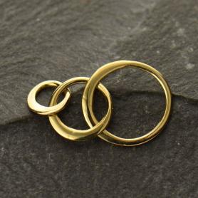 Bronze Three Circles of Life Link 10x19mm DISCONTINUED