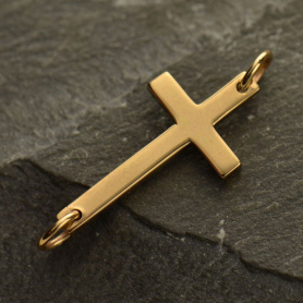 Large Cross Link  - Bronze 12x23mm