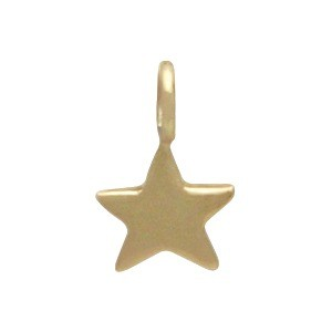 Tiny Star Dangle Charm - Bronze 8x5mm
