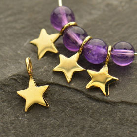 Tiny Star Dangle Charm - Bronze