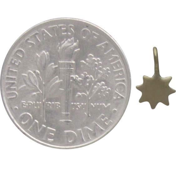 Tiny Sun Charm - Bronze 9x5mm