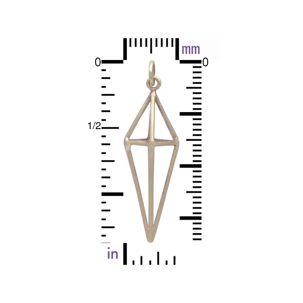 Cage Kite 3D Pendant - Bronze 36x11mm