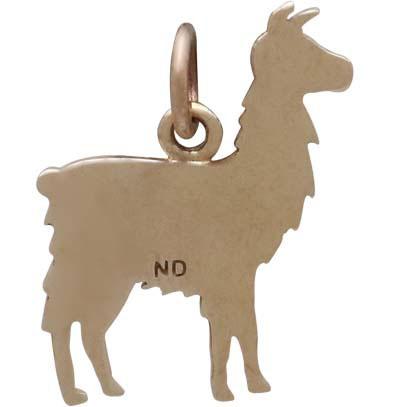 Bronze Llama Charm 17x14mm