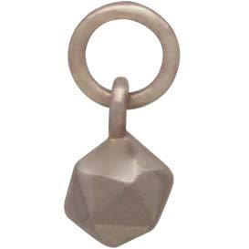 Bronze Solid Icosahedron Charm