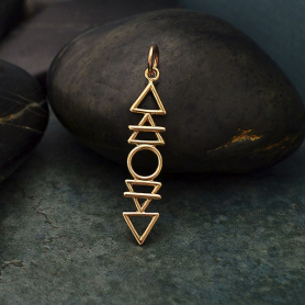 Bronze Stacked Elements Charm 32x6mm
