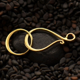 Medium Hook and Eye Clasp - Bronze 25x11mm