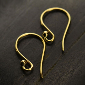 Simple Ear Hook with Ball - Bronze