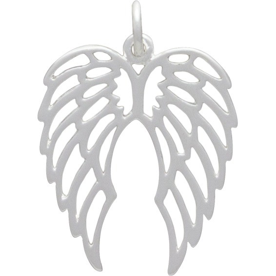 Openwork Double Wing CharmSilver Plated Bronze DISCONTINUED