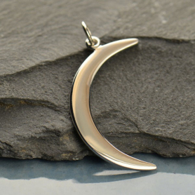 Crescent Moon Pendant - Silver Plated Bronze DISCONTINUED