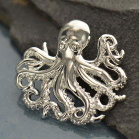 Octopus Pendant - Silver Plated Bronze DISCONTINUED
