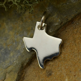 Texas State Charm - Silver Plated Bronze DISCONTINUED