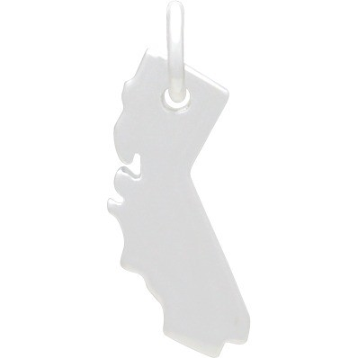 California State Charm - Silver Plated Bronze DISCONTINUED