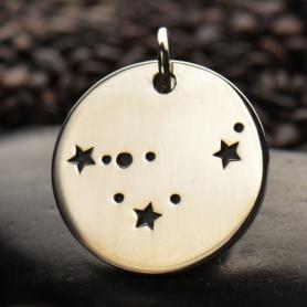 Capricorn Consetellation Charm Silver Plated BronzeDISCONTIN