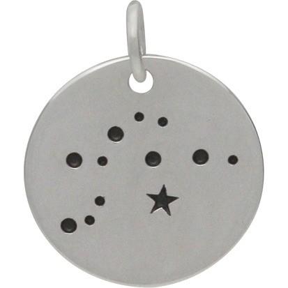 Aquarius Constellation Charm Silver Plated Bronze DISCONTINU
