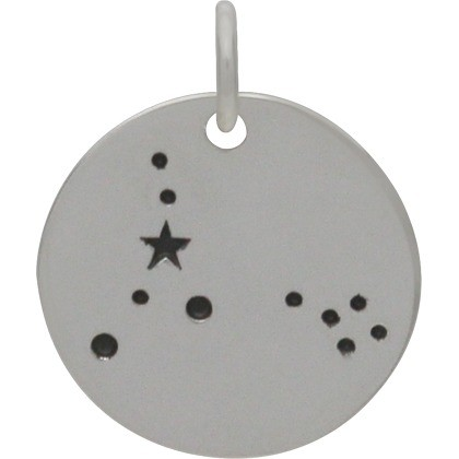 Pisces Constellation CharmSilver Plated Bronze DISCONTINUED