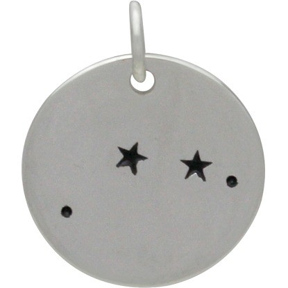 Aries Constellation Charm -Silver Plated Bronze DISCONTINUED