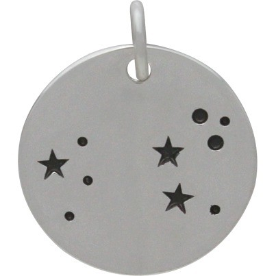Leo Constellation Charm - Silver Plated Bronze DISCONTINUED
