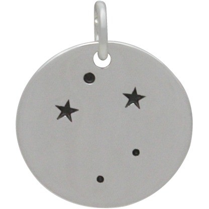 Libra Constellation Charm -Silver Plated Bronze DISCONTINUED
