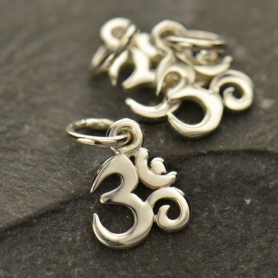 Tiny Om Charm - Silver Plated Bronze DISCONTINUED