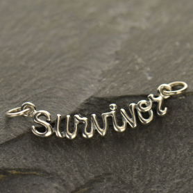 Cursive Survivor Link - Silver Plate Bronze DISCONTINUED