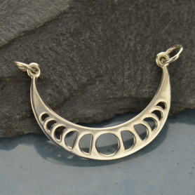 Moon Phases Pendant Link - Silver Plated Bronze DISCONTINUED