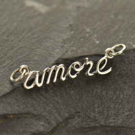 Cursive Amore Link - Silver Plate Bronze DISCONTINUED