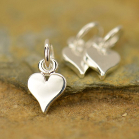Tiny Heart Charm - Silver Plated Bronze DISCONTINUED