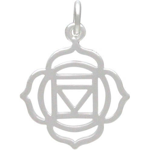 Root Chakra Charm - Silver Plated Bronze DISCONTINUED