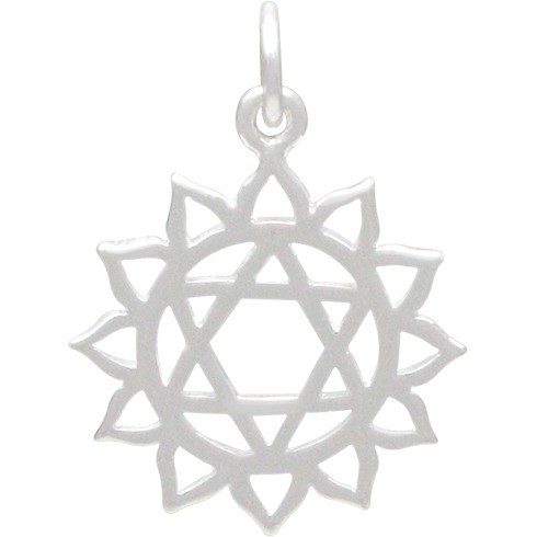 Heart Chakra Charm - Silver Plated Bronze DISCONTINUED