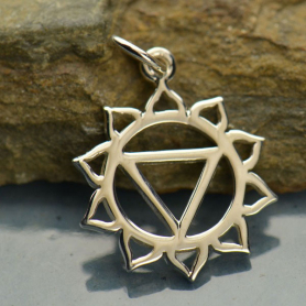 Solar Plexus Chakra Charm -Silver Plated Bronze DISCONTINUED