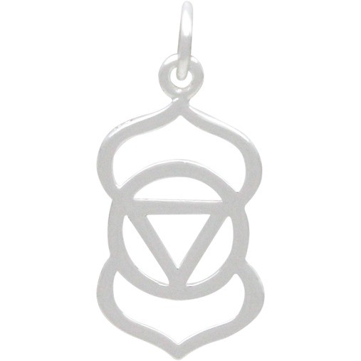 Third Eye Chakra Charm - Silver Plated Bronze DISCONTINUED