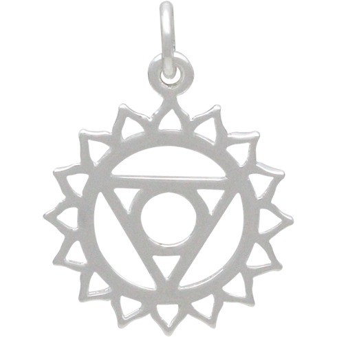 Throat Chakra Charm - Silver Plated Bronze DISCONTINUED