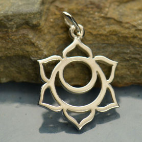 Sacral Chakra Charm - Silver Plated Bronze DISCONTINUED