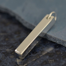 Rectangular Pendant - Silver Plated Bronze