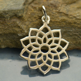 Crown Chakra Charm - Silver Plated Bronze