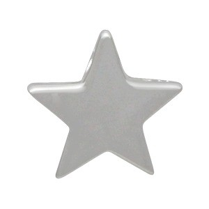 Small Star Bead - Silver Plated Bronze DISCONTINUED