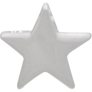 Large Star Bead - Silver Plated Bronze DISCONTINUED