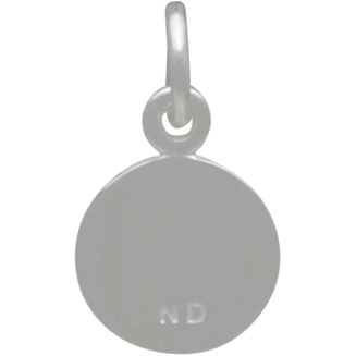 Small Single Dandelion Charm -  Silver Plated Bronze 14x8mm