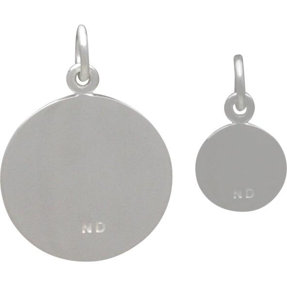 Big and Little Dandelion Set -Silver Plate Bronze 21x15mm