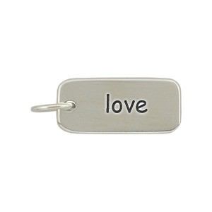 Love Word Charm - Silver Plated Bronze DISCONTINUED