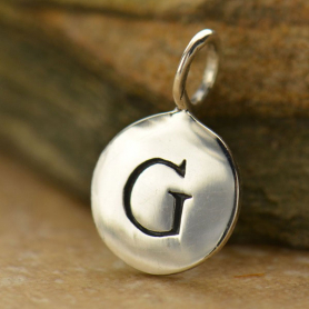Intial Charms Letter G - Silver Plated Bronze DISCONTINUED