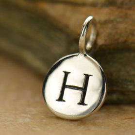 Intial Charms Letter H - Silver Plated Bronze DISCONTINUED