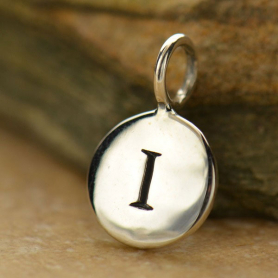 Intial Charms Letter I - Silver Plated Bronze DISCONTINUED