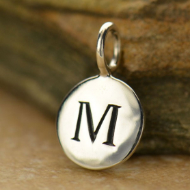 Intial Charms Letter M - Silver Plated Bronze DISCONTINUED